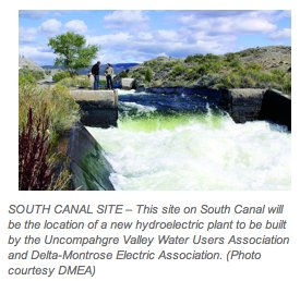 South Canal hydroelectric site