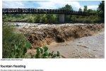 Fountain Creek swollen by stormwater in 2011 -- photo via The Pueblo Chieftain