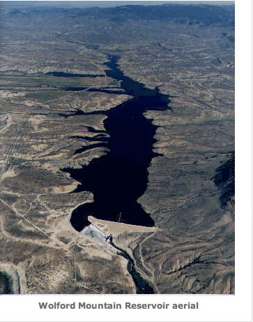 Wolford Mountain Reservoir. An aerial view of Wolford Reservoir, formed by Ritschard Dam. The Colorado Water Plan outlines many different types of projects, including reservoirs and dams, that need funding.