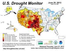 US Drought Monitor June 25, 2013