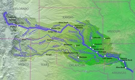 Arkansas River Basin via The Encyclopedia of Earth