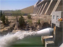 The new north outlet works at Pueblo Dam -- Photo/MWH Global