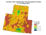 Upper Colorado River Basin Precipitation from October 21-27, 2013 via the Colorado Climate Center