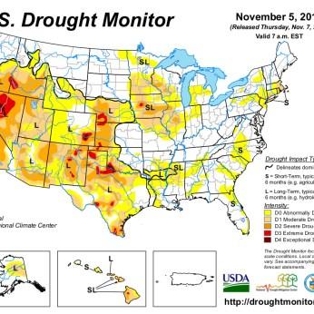 US Drought Monitor November 5, 2013