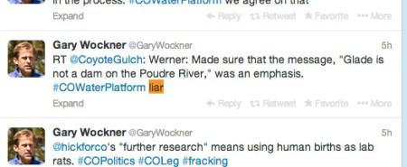 Gary Wockner calling Brian Werner a liar piggybacking on @CoyoteGulch