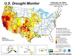 US Drought Monitor February 18, 2014