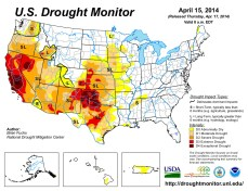 US Drought Monitor April 15, 2014