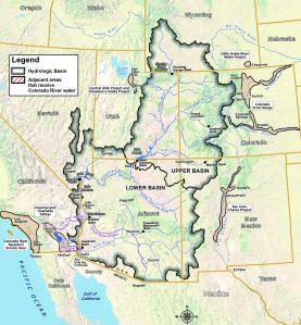 Colorado River Basin including out of basin demands via USBR