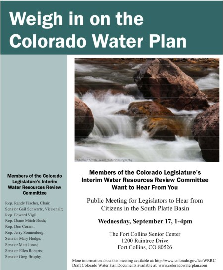 Flyer-Colorado Water Plan
