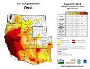 West Drought Monitor August 19, 2014