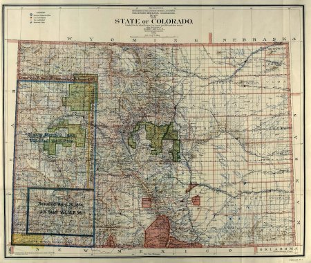 Land Office Map of Colorado (1902) via Greg Hobbs