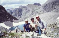 Will Hobbs, Greg Hobbs, Dan Hobbs, and a string of fish for dinner, Mary Alice Lake, Weminuche Wilderness, 1986 via Greg Hobbs