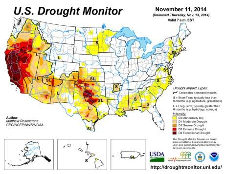 US Drought Monitor November 11, 2014