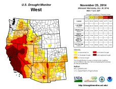 West Drought Monitor November 25, 2014