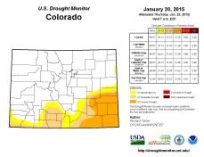 Colorado Drought Monitor January 20, 2015