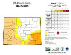 Colorado Drought Monitor March 17, 2015