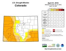 Colorado Drought Monitor April 21, 2015