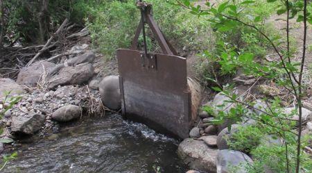 McKinley Ditch headgate photo via the Colorado Water Trust