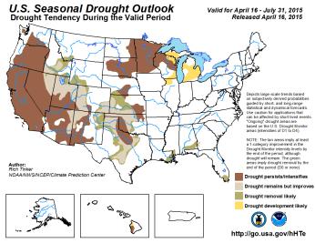 Seasonal drought outlook April 16 thru July 31, 2015