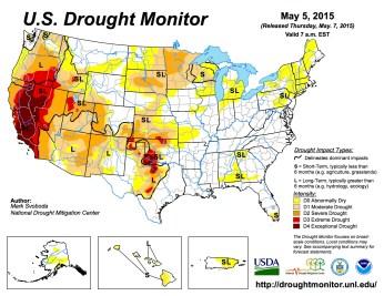 US Drought Monitor May 5, 2015