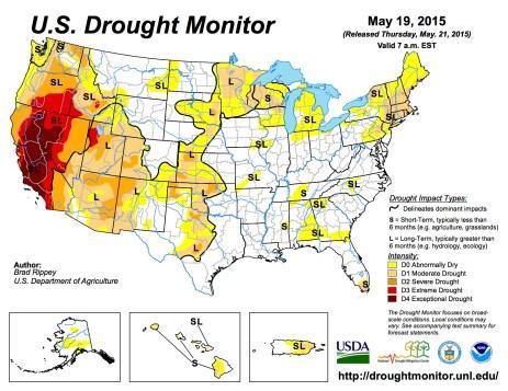 US Drought Monitor May 29, 2015
