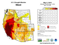 West Drought Monitor May 5, 2015