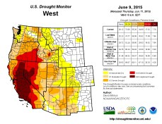 West Drought Monitor June 9, 2015