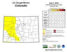 Colorado Drought Monitor July 7, 2015