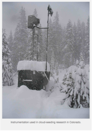 Instumentation cloud seeding research Colorado.