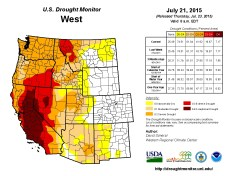 West Drought Monitor July 21, 2015