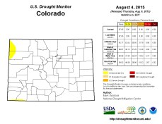 Colorado Drought Monitor August 8, 2015