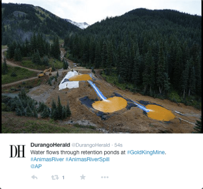 New settlement ponds at Gold King Mine August 2015
