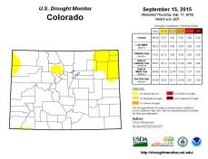 Colorado Drought Monitor September 15, 2015