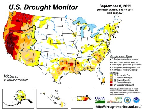 US Drought Monitor September 8, 2015