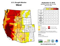 West Drought Monitor September 8, 2015