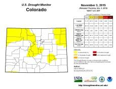 Colorado Drought Monitor November 3, 2015