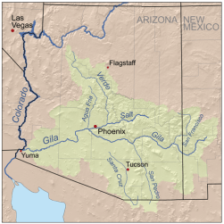 Gila River watershed. Graphic credit: Wikimedia