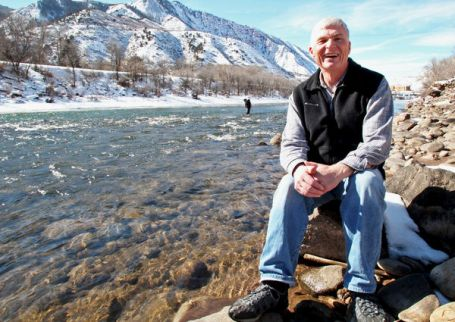 Eric Kuhn along the banks of the Colorado River in Glenwood Springs, general manager of the Colorado River District. Photo via the Grand Junction Daily Sentinel.