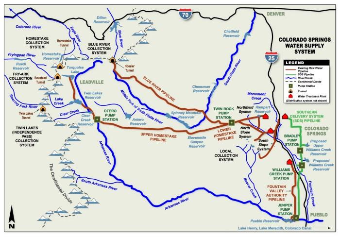 Colorado Springs Collection System via Colorado College.