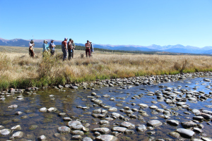 Members of Learning By Doing tour the Fraser Flats on Sept. 27, 2016. Photo credit: Denver Water