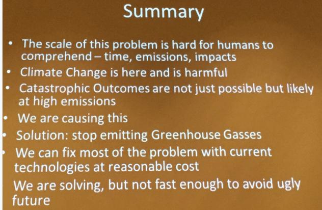 Summary slide, Brad Udall, South Platte Forum, October 27, 2016.