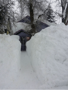 Passages are narrowing as the snow piles up in Crested Butte. Photo/Town of Crested Butte Facebook page