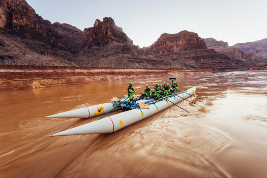 The U.S. Whitewater Rafting Team trains on its custom-built raft in December on the Colorado River. The team was on pace for a record descent of the 277-mile canyon [January 14-15, 2017] when a wave broke the frame and punctured a tube. Photo Special to The Denver Post by Forest Woodward.