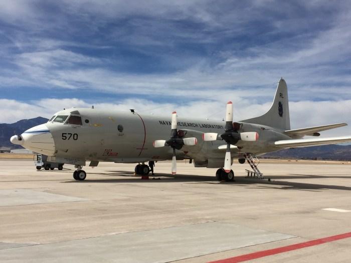 SnowEx aircraft, February 17, 2016.