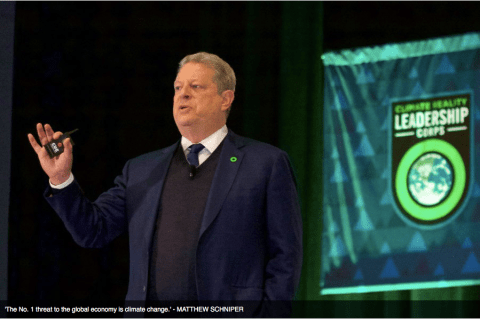 Al Gore at a Climate Reality Leadership Corps training.