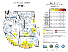 West Drought Monitor May 9, 2017.