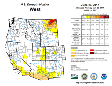 West Drought Monitor June 20, 2017.