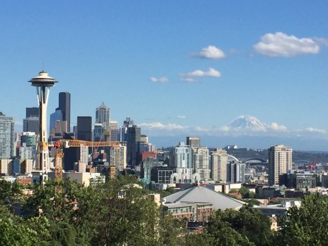Mount Rainier and Seattle Skyline July 22 2017.