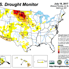 US Drought Monitor July 18 2017.