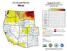 West Drought Monitor August 22, 2017.